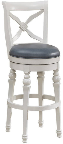 American Heritage Billiards 111204 Livingston Bar Height Stool in Cornflower - BarstoolDirect.com
