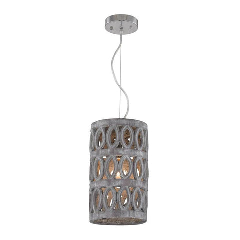 Lazy Susan 156-013 Small Pierced Grey Antique Lantern - Peazz.com