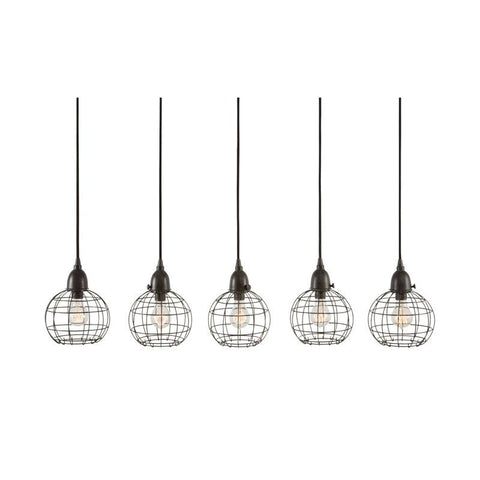 Lazy Susan 225064 Five-Wire Ball Pendant Lamp - Peazz.com