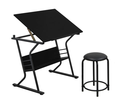 Studio Designs 13366 Eclipse Table with Stool /  Black - Peazz.com