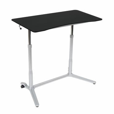 Studio Designs 51230 Sierra Adjustable Height Desk Silver / Blk - Peazz.com