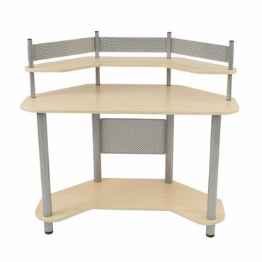 Studio Designs 55124 Study Corner Desk Silver / Maple - Peazz.com