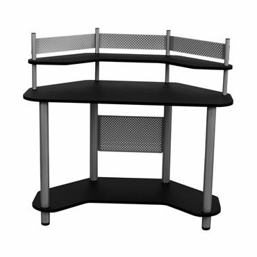 Studio Designs 55123 Study Corner Desk Silver / Black - Peazz.com