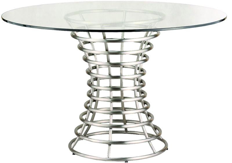 Stainless | Clear | Brush | Steel | Glass | Table | Live | Dine