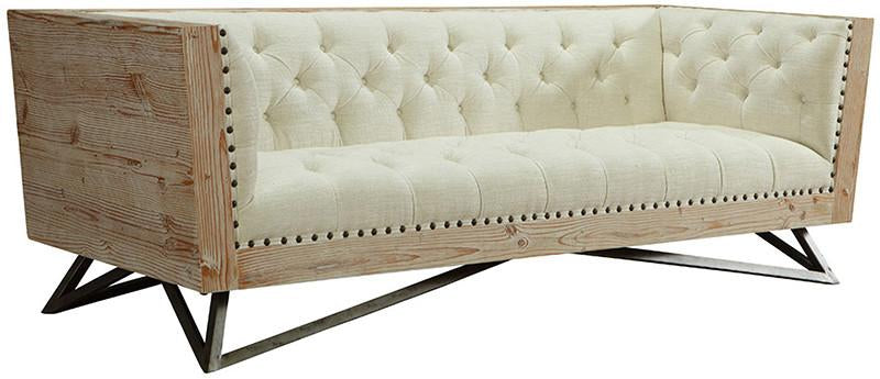 Cream Sofa Pine Frame Gunmetal Legs Regis 2885 Product Photo