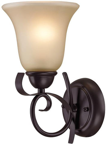 Cornerstone 1001WS/10 Brighton 1 Light Wall Sconce In Oil Rubbed Bronze - Peazz.com