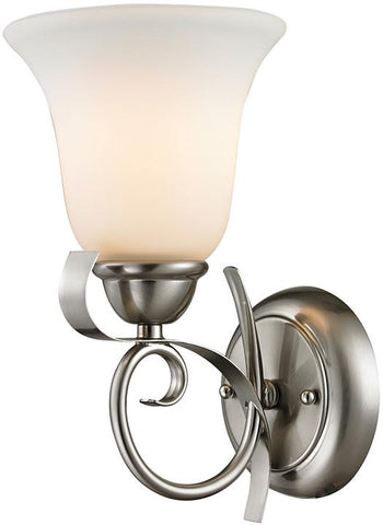 Cornerstone 1001WS/20 Brighton 1 Light Wall Sconce In Brushed Nickel - Peazz.com