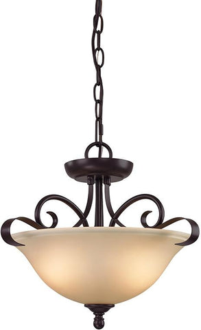 Cornerstone 1002CS/10 Brighton 2 Light Convertible In Oil Rubbed Bronze - Peazz.com
