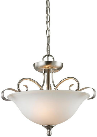 Cornerstone 1002CS/20 Brighton 2 Light Convertible In Brushed Nickel - Peazz.com