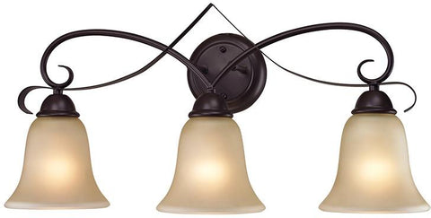 Cornerstone 1003BB/10 Brighton 3 Light Bath Bar In Oil Rubbed Bronze - Peazz.com