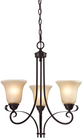 Cornerstone 1003CH/10 Brighton 3 Light Chandelier In Oil Rubbed Bronze - Peazz.com
