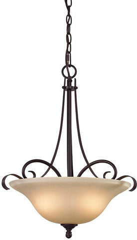 Cornerstone 1003PL/10 Brighton 3 Light Large Pendant In Oil Rubbed Bronze - Peazz.com
