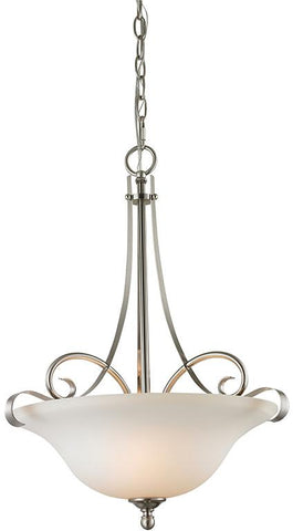 Cornerstone 1003PL/20 Brighton 3 Light Large Pendant In Brushed Nickel - Peazz.com