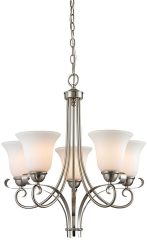 Cornerstone 1005CH/20 Brighton 5 Light Chandelier In Brushed Nickel - Peazz.com
