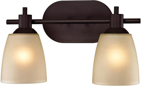 Cornerstone 1302BB/10 Jackson 2 Light Bath Bar In Oil Rubbed Bronze - Peazz.com