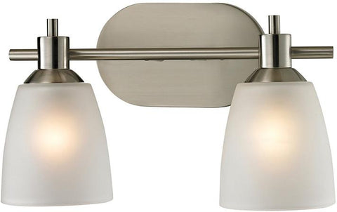 Cornerstone 1302BB/20 Jackson 2 Light Bath Bar In Brushed Nickel - Peazz.com