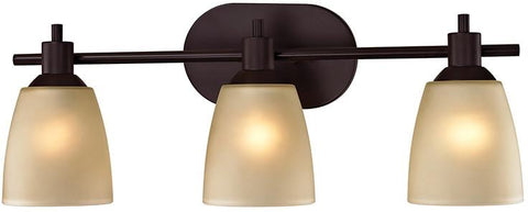Cornerstone 1303BB/10 Jackson 3 Light Bath Bar In Oil Rubbed Bronze - Peazz.com