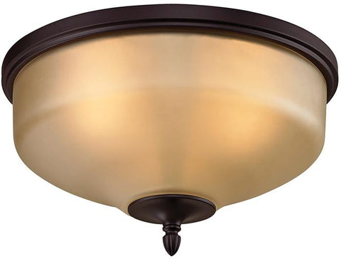 Cornerstone 1303FM/10 Jackson 2 Light Flush Mount In Oil Rubbed Bronze - Peazz.com
