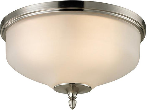 Cornerstone 1303FM/20 Jackson 2 Light Flush Mount In Brushed Nickel - Peazz.com