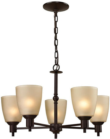 Cornerstone 1305CH/10 Jackson 5 Light Chandelier In Oil Rubbed Bronze - Peazz.com