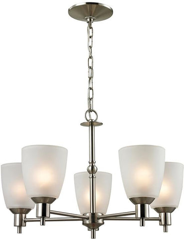 Cornerstone 1305CH/20 Jackson 5 Light Chandelier In Brushed Nickel - Peazz.com