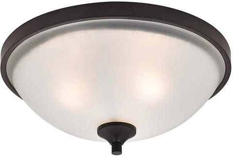 Cornerstone 2003FM/10 Arlington 3 Light Flush Mount In Oil Rubbed Bronze - Peazz.com