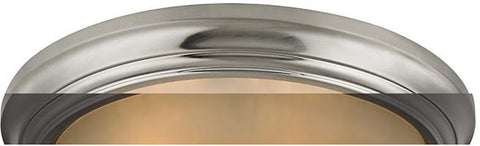 Cornerstone 7013FM/20 3 Light Flush Mount In Brushed Nickel - Peazz.com