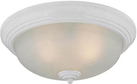 Cornerstone 7013FM/40 3 Light Flush Mount In White - Peazz.com