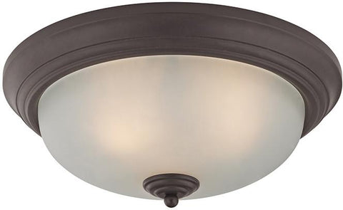 Cornerstone 7023FM/10 3 Light Flush Mount In Oil Rubbed Bronze - Peazz.com