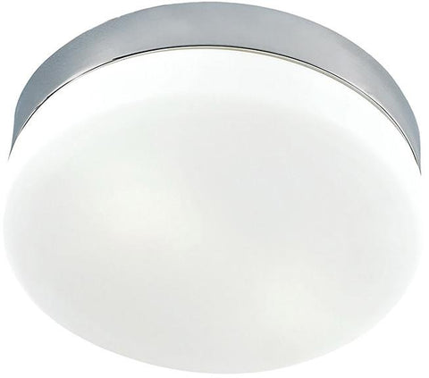 Cornerstone 7801FM/22 1 Light Flush Mount In Satin Nickel And White Glass - Peazz.com