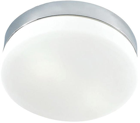 Cornerstone 7801FM/40 1 Light Flush Mount In Chrome And White Glass - Peazz.com