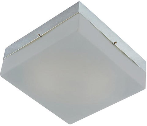 Cornerstone 7852FM/22 2 Light Flush Mount In Chrome And Metalic Grey Glass - Peazz.com