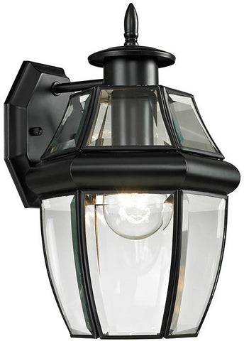 Cornerstone 8601EW/60 Ashford 1 Light Exterior Coach Lantern In Black - Peazz.com
