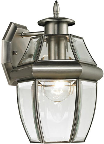 Cornerstone 8601EW/80 Ashford 1 Light Exterior Coach Lantern In Antique Nickel - Peazz.com