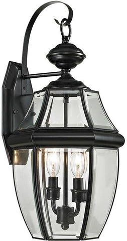 Cornerstone 8602EW/60 Ashford 2 Light Exterior Coach Lantern In Black - Peazz.com