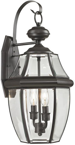 Cornerstone 8602EW/75 Ashford 2 Light Exterior Coach Lantern In Oil Rubbed Bronze - Peazz.com