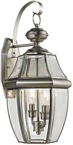 Cornerstone 8602EW/80 Ashford 2 Light Exterior Coach Lantern In Antique Nickel - Peazz.com