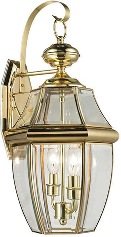 Cornerstone 8602EW/85 Ashford 2 Light Exterior Coach Lantern In Antique Brass - Peazz.com