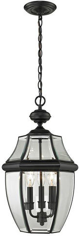 Cornerstone 8603EH/60 Ashford 3 Light Exterior Hanging Lantern In Black - Peazz.com