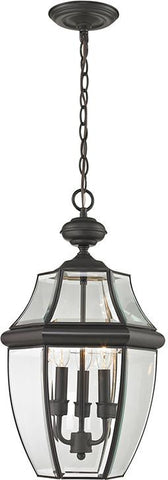 Cornerstone 8603EH/75 Ashford 3 Light Exterior Hanging Lantern In Oil Rubbed Bronze - Peazz.com