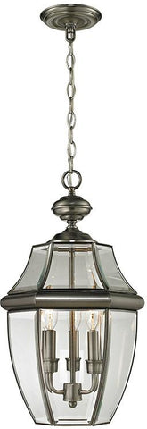 Cornerstone 8603EH/80 Ashford 3 Light Exterior Hanging Lantern In Antique Nickel - Peazz.com