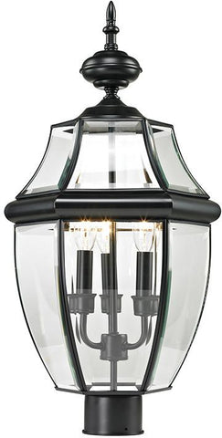 Cornerstone 8603EP/60 Ashford 3 Light Exterior Post Lantern In Black - Peazz.com