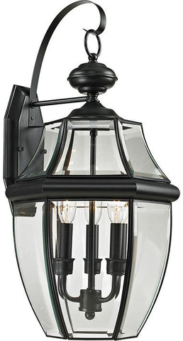 Cornerstone 8603EW/60 Ashford 3 Light Exterior Coach Lantern In Black - Peazz.com