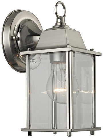 Cornerstone 9231EW/80 1 Light Outdoor Wall Sconce In Brushed Nickel - Peazz.com