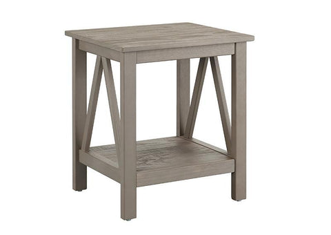 Linon 86153GRY01U Titian Rustic Gray End Table - BarstoolDirect.com