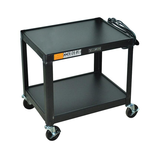 Luxor AV26 Luxor Black Metal Av Cart - Peazz.com