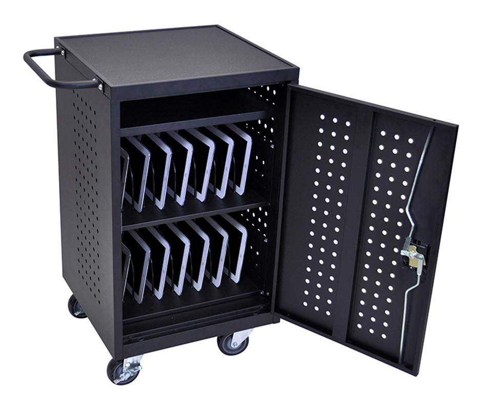 Black Computer Tablet Charging Cart Luxor 2087 Product Photo