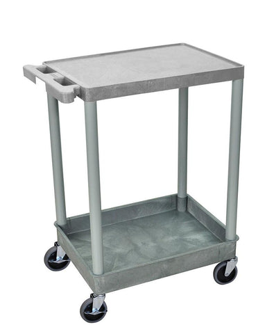 Luxor STC21-G 2 Shelf Gray Tub Cart - Peazz.com