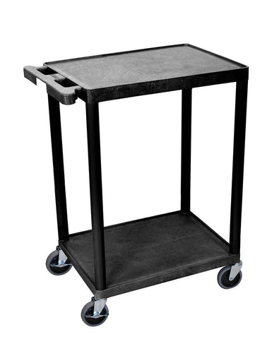 Luxor STC22-B Luxor 2 Shelf Black Cart - Peazz.com