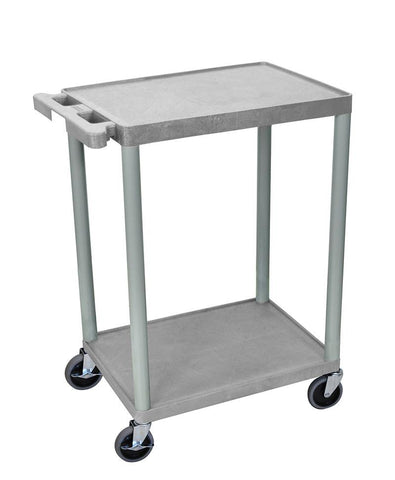 Luxor STC22-G Luxor 2 Shelf Gray Cart - Peazz.com